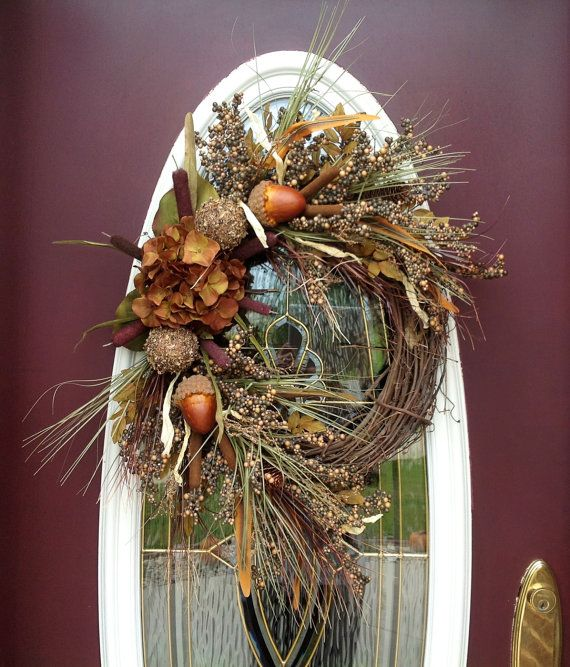 Fall Grapevine Wreath Door Decor..Nature's by AnExtraordinaryGift