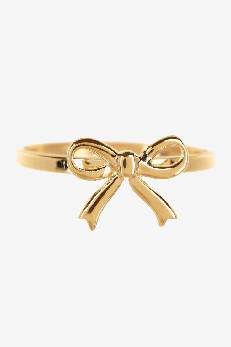 14K Yellow Gold Polished Bow Ring