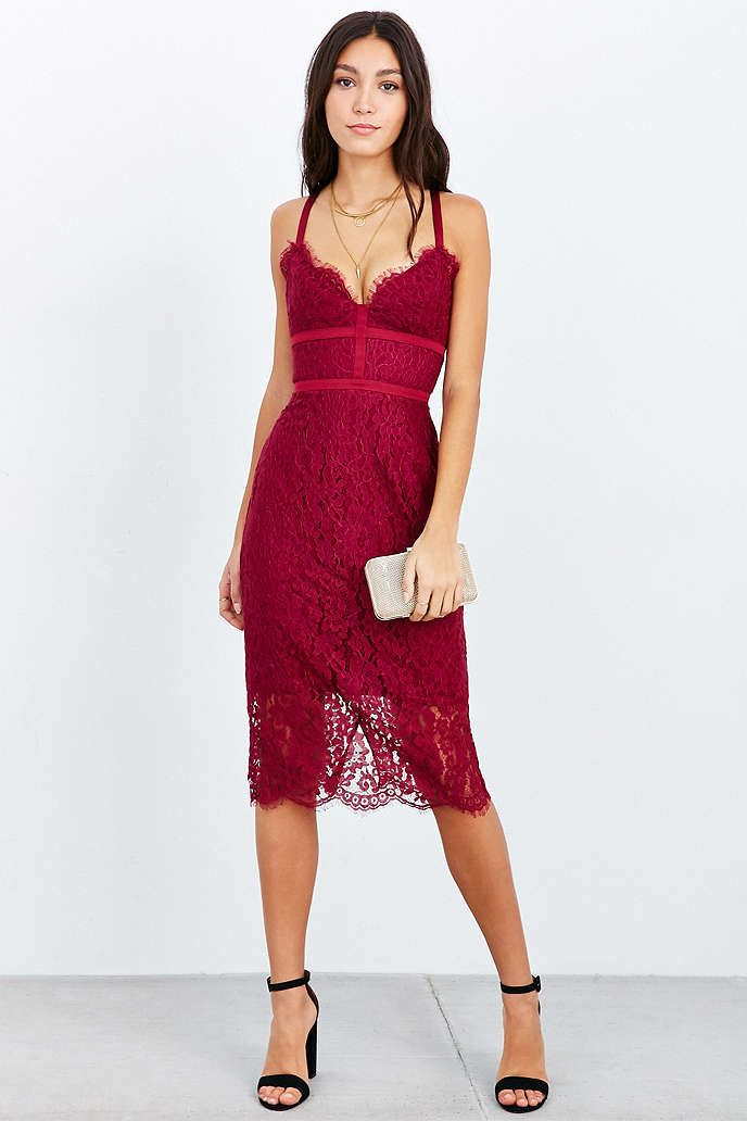 Keepsake Interlude Lace Bodycon Dress - Urban Outfitters