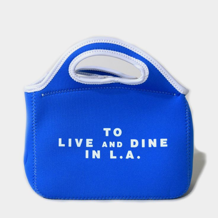 To Live and Dine in L.A. Neoprene Lunch Bag