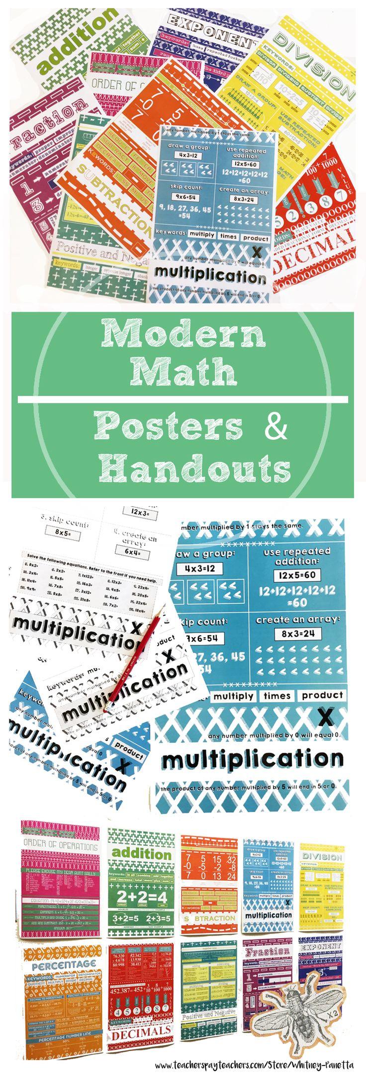 Modern Classroom Posters ~ Best math poster ideas on pinterest classroom