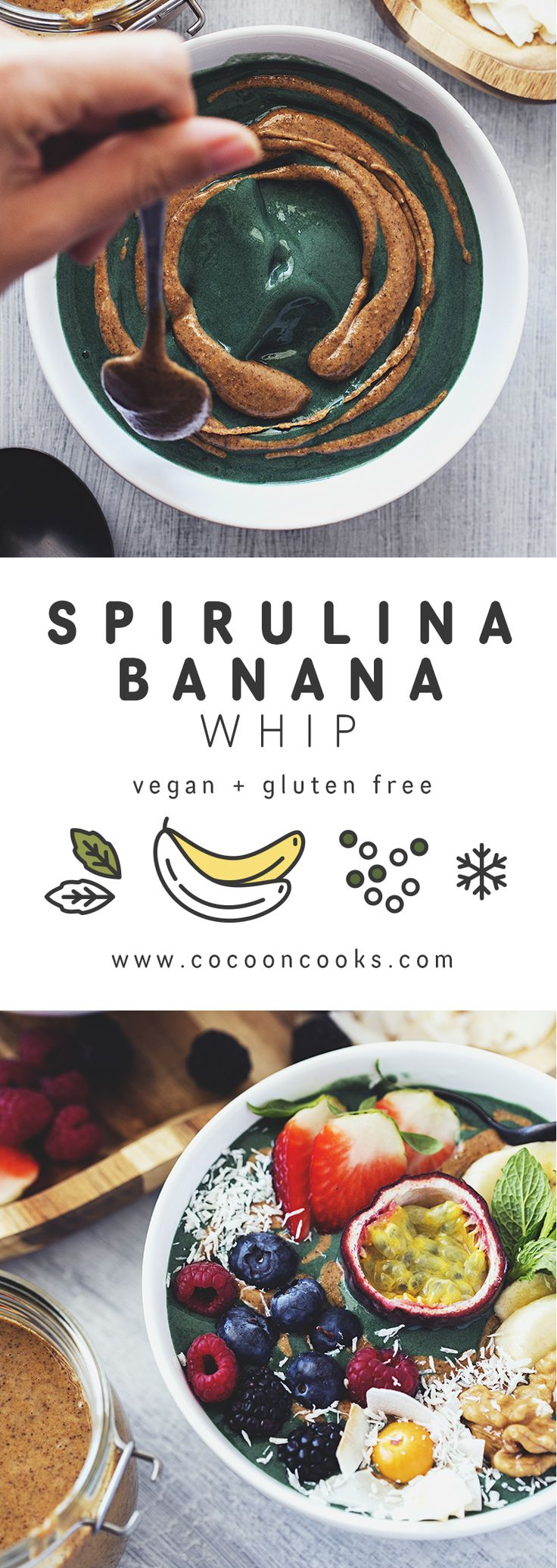 Banana Spirulina Whip, a Simple and Healthy Breakfast. #vegan #highcarb #lowfat…