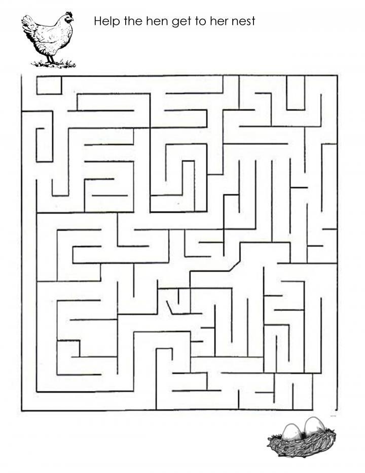 Hen Maze Nurture Kid 39 S Activities Free Templates