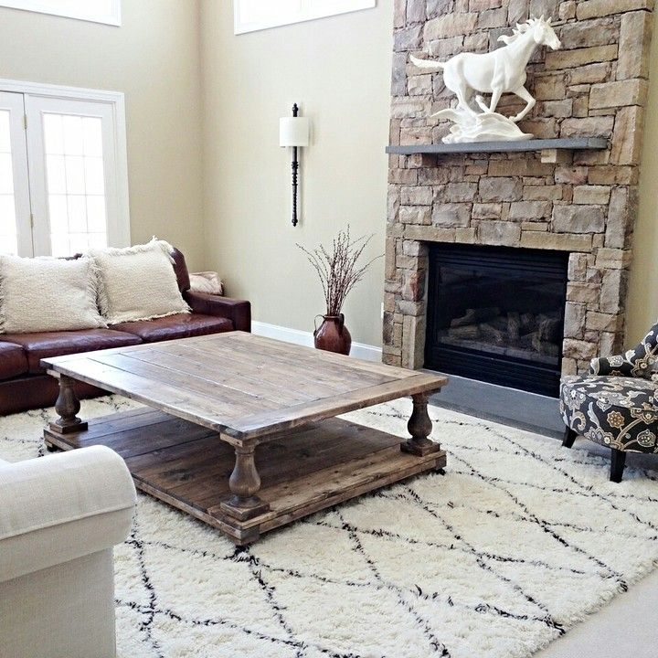 Oversized Balustrade Coffee Table from Farmhouse Living for $750.00 - 25+ Best Ideas About Oversized Coffee Table On Pinterest Large