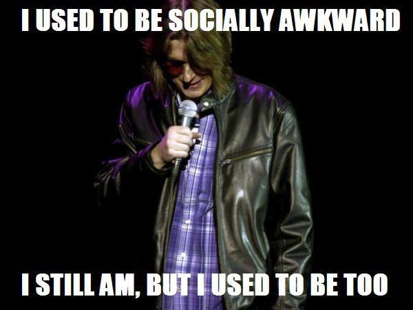 When socially awkward penguin was a human.