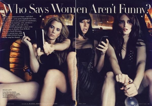 Kirsten Wiig, Maya Rudolph, Tina Fey   - Vanity Fair Spread by Annie Leibovitz  #SNL