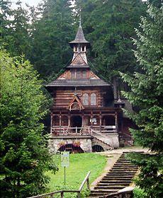 Wood Church in Zakopane, Poland