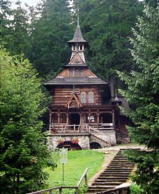 Wood Church in Zakopane, Poland