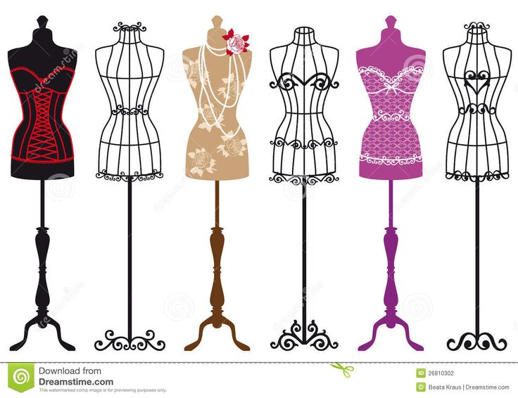 Vintage Fashion Mannequins, Vector Set - Download From Over 53 Million High Quality Stock Photos, Images, Vectors. Sign up for FREE today. Image: 26810302