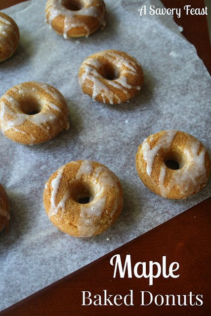 Maple Baked Donuts are a great make-ahead breakfast!