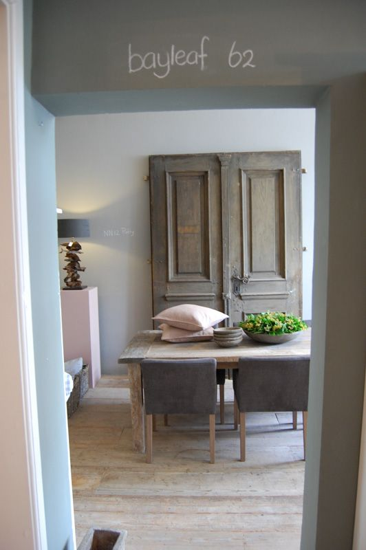 shades of grey in the dining room - Painting The Past bayleaf