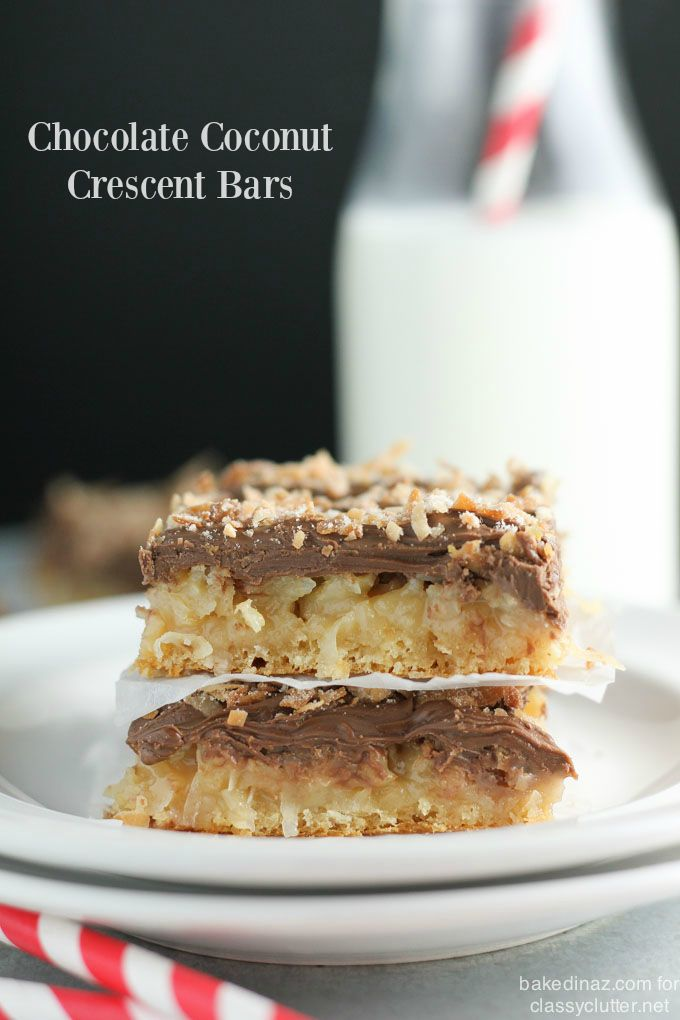 These Chocolate Coconut Bars are dreamy! They are perfect for the whole family! Click the picture to view the whole recipe!