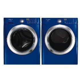 #9: Frigidaire Affinity Blue Front Load Washer  Gas Dryer FAFS4473LN_FASG7073LN: Frigidair Affin, Blue Front, Electric Dryer, Gas Dryer, Affin Red, Front Load Washer, Front Loaded Washer, Electric Steam, Affin Blue