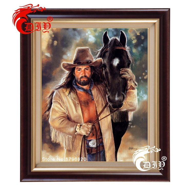 Free shipping new needlework full square drill diamond painting diy cross stitch diamond embroidery 5d mosaic Indian with horse
