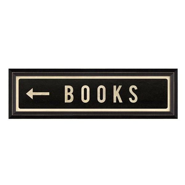 SPICHER AND COMPANY 'Books' Vintage Look Sign Artwork found on Polyvore