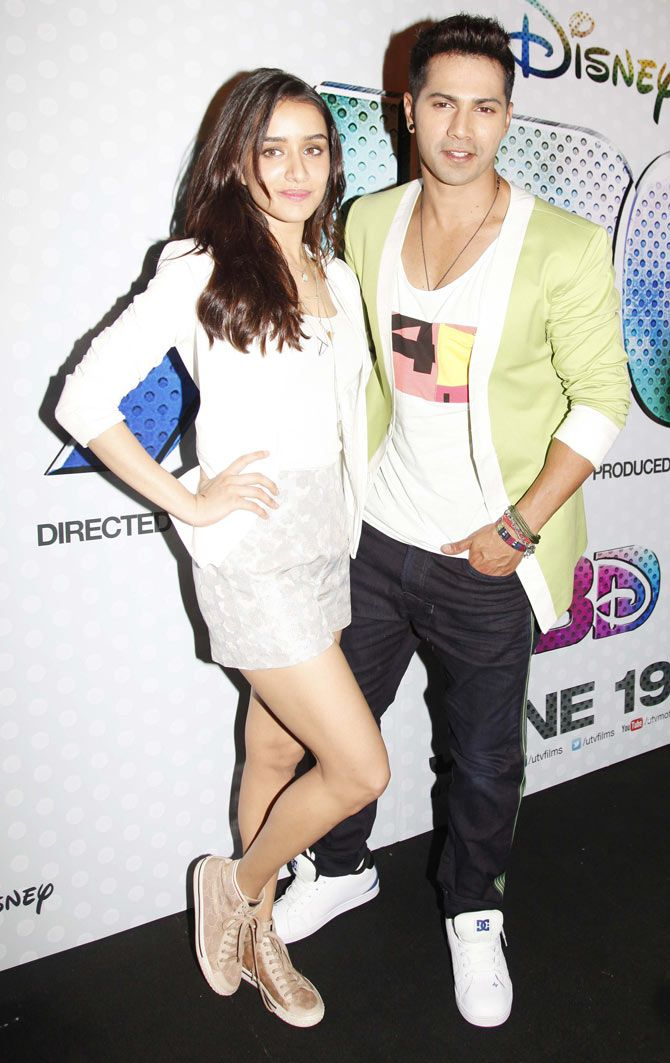 Varun Dhawan and Shraddha Kapoor at the trailer launch of 'ABCD 2'.