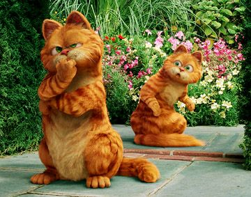 Garfield: The Movie (2004) and Garfield: A Tail Of Two Kitties (2006)