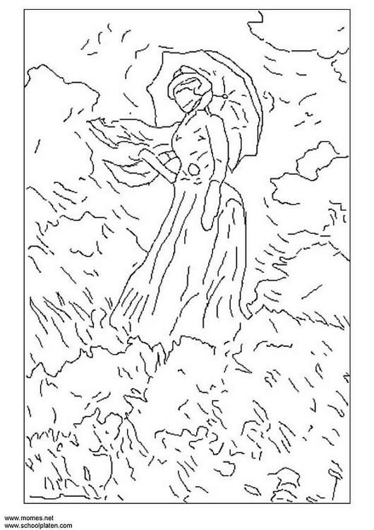 Coloring page Monet - coloring picture Monet. Free coloring sheets to print and download. Images for schools and education - teaching materials. Img 3120.