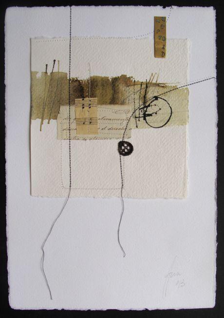 Blanca Serrano (Barcelona) - stitches on paper