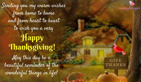 Wishes From Across The Miles. |Thanksgiving|Happy Thanksgiving|Thank You|Thankful|Grateful| http://www.123greetings.com/events/thanksgiving/wishes/wishes_from_across_the_miles.html