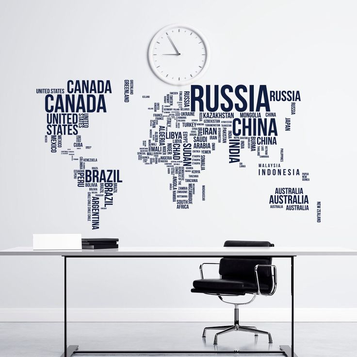 Best World Map Wall Decal Ideas On Pinterest Vinyl Wall - Us road map wall decals