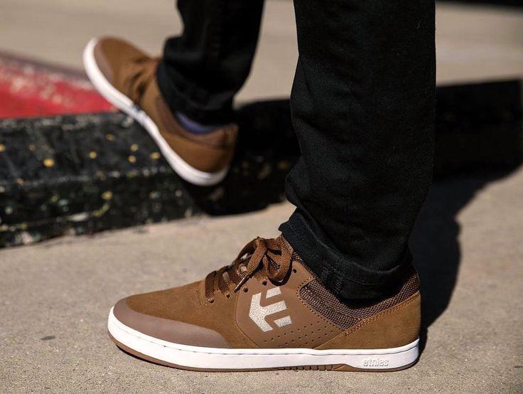 Etnies Shoes, Etnies footwear, Etnies Marana Brown/White/Gum Chris Joslin