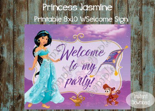 Printable Jasmine Birthday Invitations ~ Best palace pets birthday invitation printable party idea