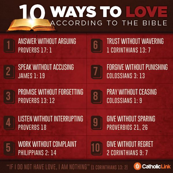 Catholic-Link's Library - Infographic: 10 ways to love according to the...