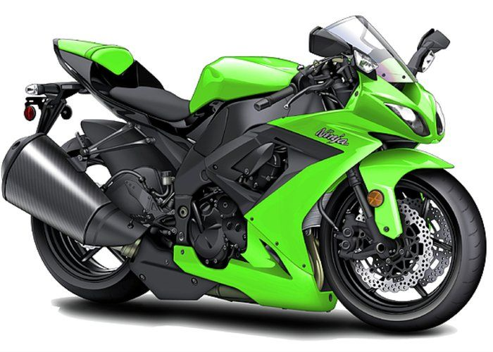"""Kawasaki Ninja Green Motorcycle Greeting Card for Sale by Maddmax. Our premium-stock greeting cards are 5"""" x 7"""" in size and can be personalized with a custom message on the inside of the card. All cards are available for worldwide shipping and include a money-back guarantee."""