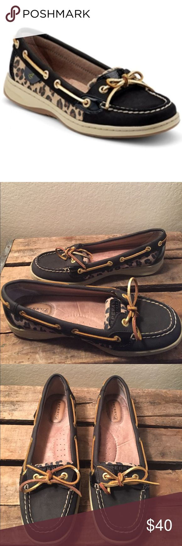 Sperry Top-Sider Angelfish Boat Shoe Women's Size 7.5. Preowned and in great condition. Please see all 7 photos. No holes and plenty of use left in these. Sperry Top-Sider Shoes Flats & Loafers
