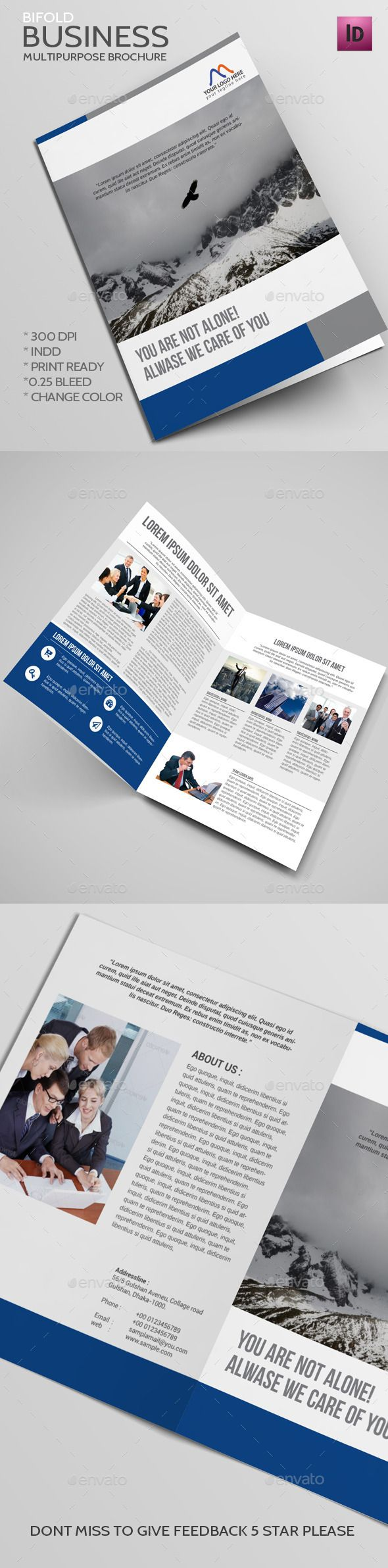 Bifold Business Brochure Template #design #print Download: http://graphicriver.net/item/bifold-business-brochure/11979795?ref=ksioks