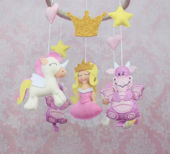 1025 best images about ornaments on pinterest crochet for Princess crib mobile