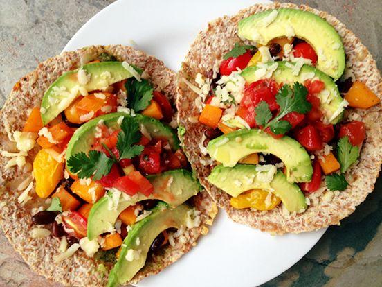 ... heirloom tomatoes, pepper jack cheese, sliced avocado, pico de gallo