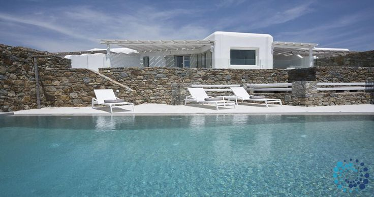 "Welcome to the ""Villa Alice"" in Mykonos, Greece. Your #luxury #villa #rent #greece #greek #island #vacances #grece #mygreekvilla #alouer"