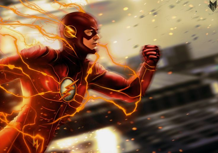The+Flash+:+Barry+Allen+(Grant+Gustin)+–+speed+drawing