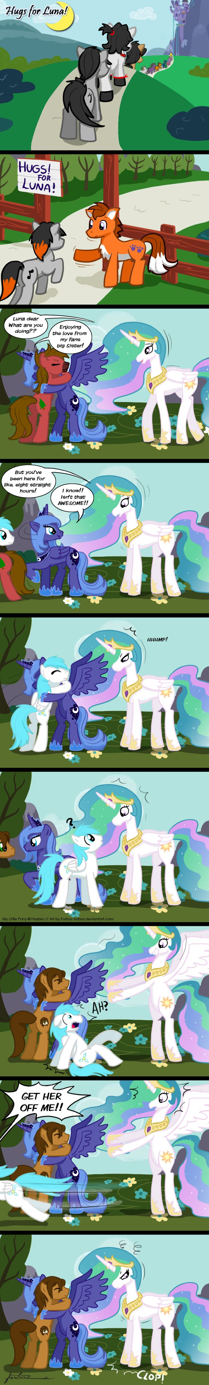 I would hug Celestia if she offered but defiantly Luna.