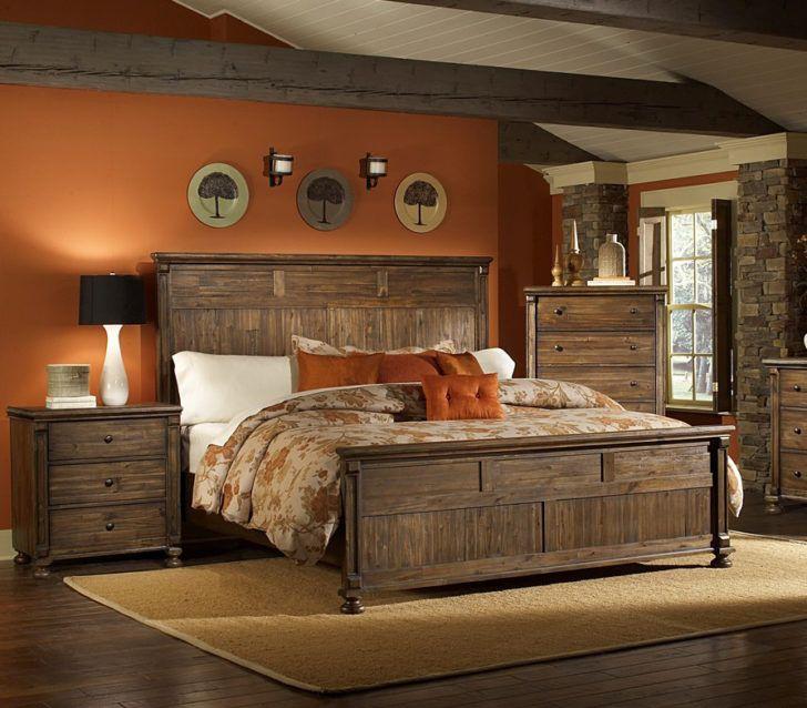 Pared terracota dormitorio