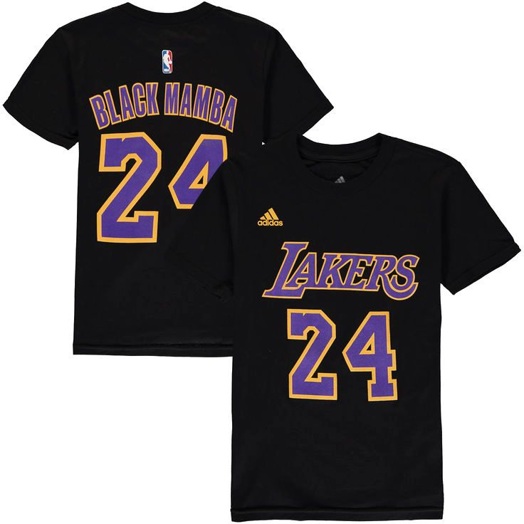 Kobe Bryant Los Angeles Lakers adidas Youth Nickname & Number T-Shirt - Black - $17.59