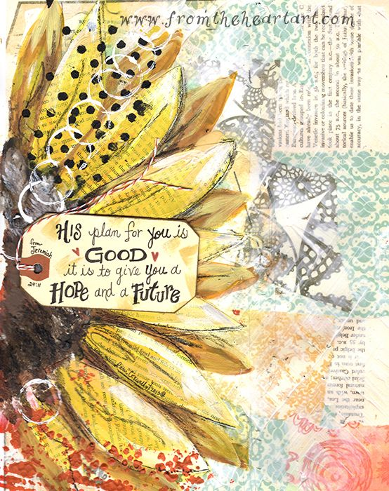 Yellow Sunflower Print (Jer.29:11)