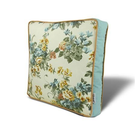 Gravel Floral Seat Pad, Light Blue