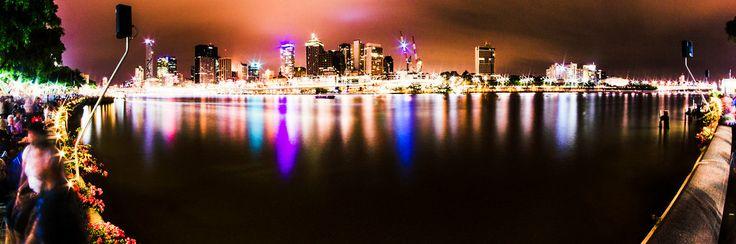 New Years Eve 2013 - 2014 Fireworks - Brisbane, Australia