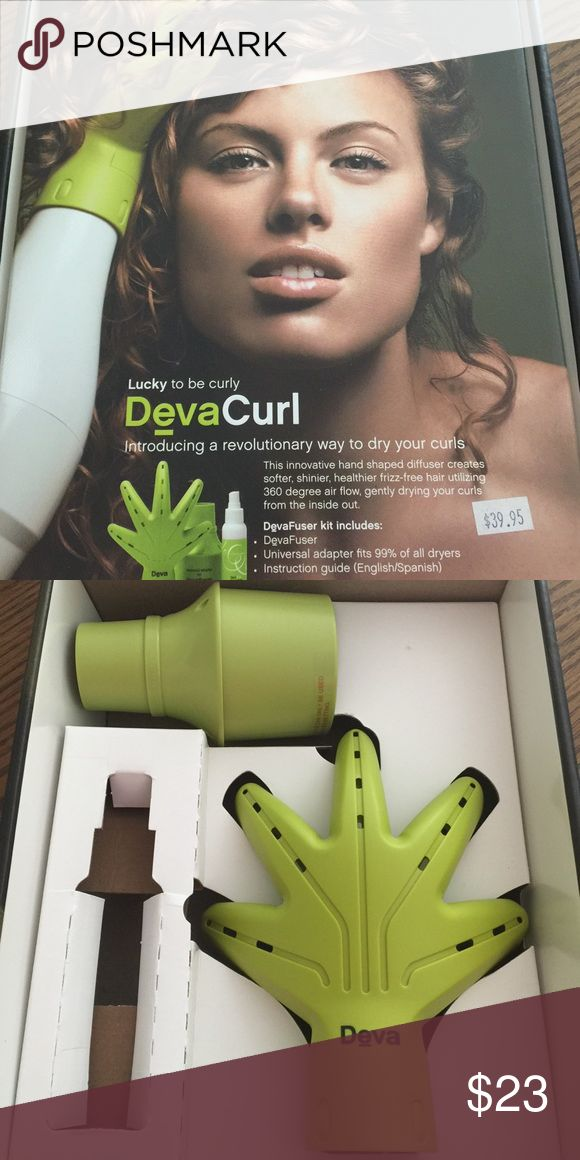 """DevaCurl Diffuser Got curly hair?  This diffuser by DevaCurl would make a great addition to your curl routine.  It was only used a handful of times and is in like new condition.  The only thing not included is the """"Bonus 3 oz moisture lock spray. DevaCurl Other"""