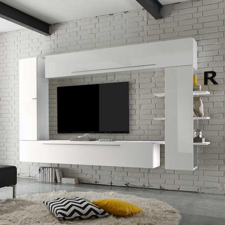 Die besten 25+ Tv board hängend Ideen auf Pinterest Tv wand - wohnzimmer wohnwand weiß