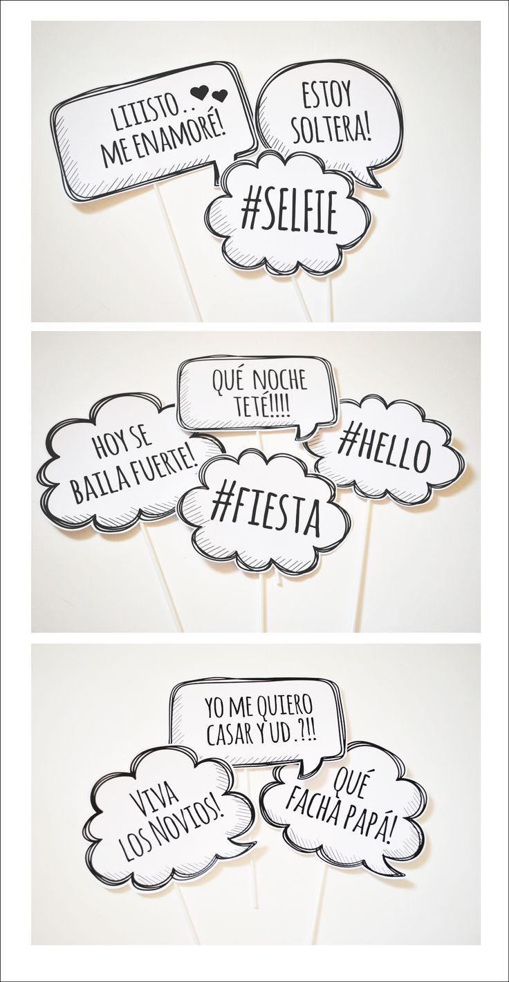 PHOTO PROPS #phrases #photoprops #party #photobooth #wedding #frases #casamiento