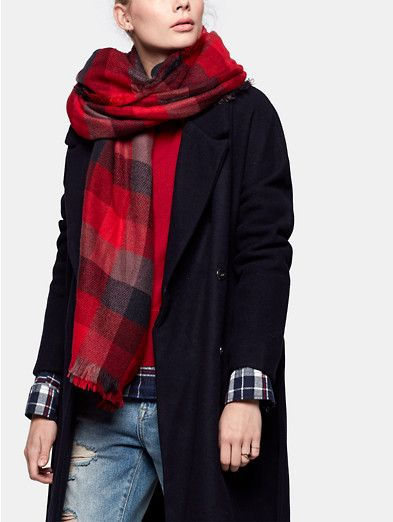 Sjaal, The Sting Red check scarf - The Sting
