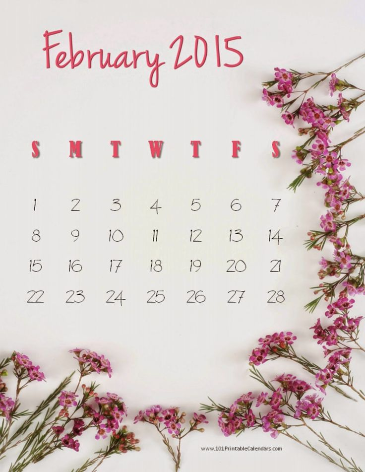 12 Best Design For Calendar February 2015 Images On Pinterest