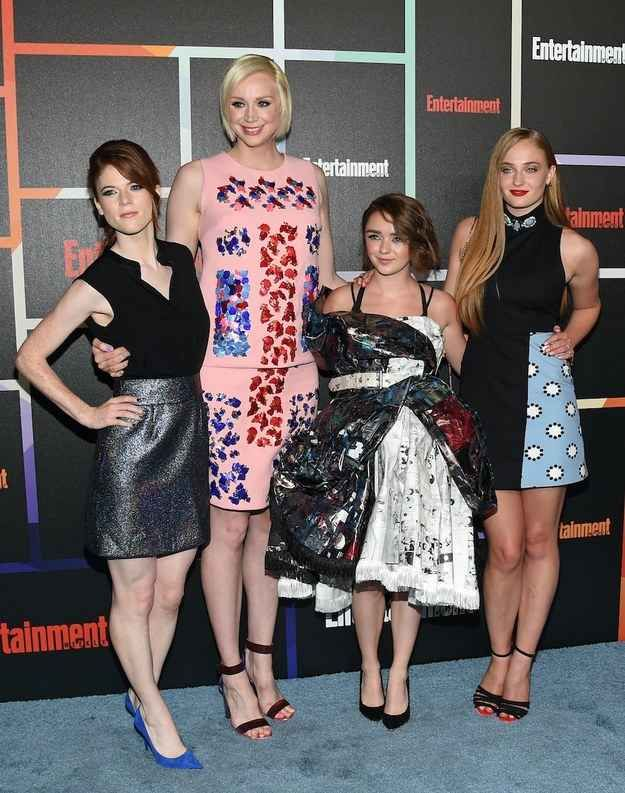Ygritte, Brienne of Tarth, and the Stark girls all glammed up on a girls' night.