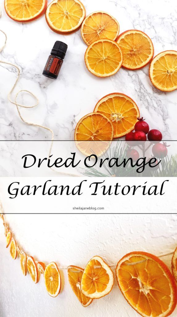 Dried Orange Garland Tutorial