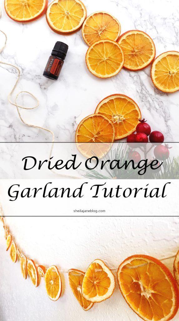 Dried Orange Garland Tutorial