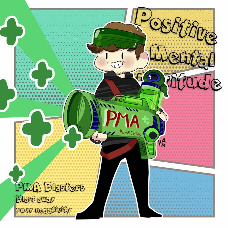 PMA BLASTERS Blast away your negativity NOW I always imagine Jack is firing his positivity everywhere and makes everyone happy, what a hero! :) (Click image for better resolution :D)